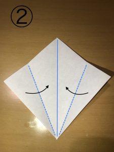 折り紙で立体的なウサギの作り方2