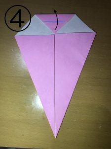 折り紙で立体的なウサギの作り方4