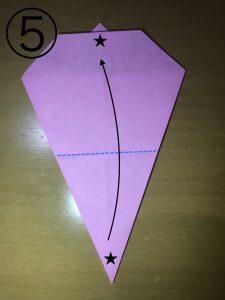 折り紙で立体的なウサギの作り方5
