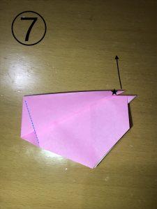 折り紙で立体的なウサギの作り方7