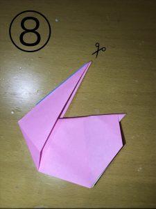 折り紙で立体的なウサギの作り方8