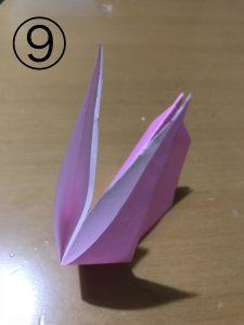 折り紙で立体的なウサギの作り方9