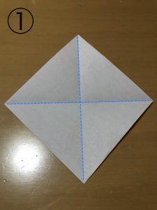 立体くす玉の折り紙パーツ1