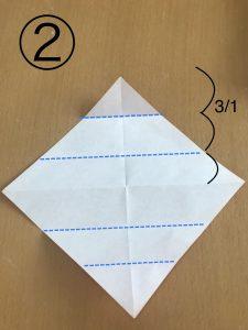 立体くす玉の折り紙パーツ2