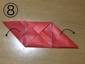 立体くす玉の折り紙パーツ8