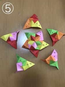 立体くす玉の折り紙組み立て5