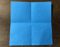 折り紙のちょうの折り方 蝶2