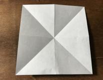 折り紙のちょうの折り方 蝶3-2