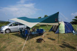 オートサイトのあるキャンプ場